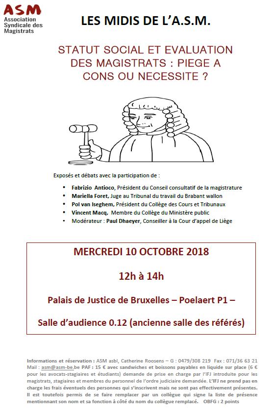 Affiche Midi De L'ASM - 10 Octobre 2018